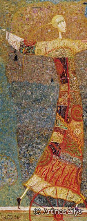 "Arūnas Žilys ""Balansas"", 150 X 50 cm. 1998 m."