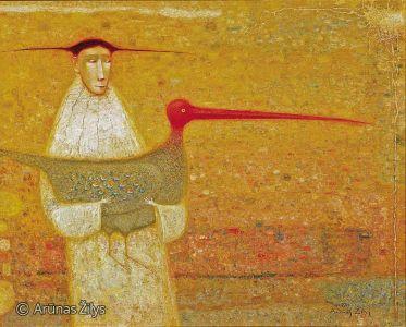 """Arūnas Žilys """"Dviese"""", 105 X 130 cm. 2003 m."""