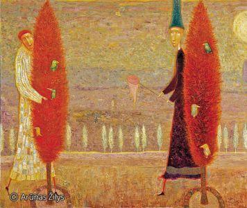 """Arūnas Žilys """"Nepagaus"""", 110 X 130 cm. 2001 m."""