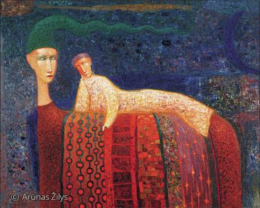 "Arūnas Žilys ""Relaksas"", 100 X 120 cm. 1999 m."