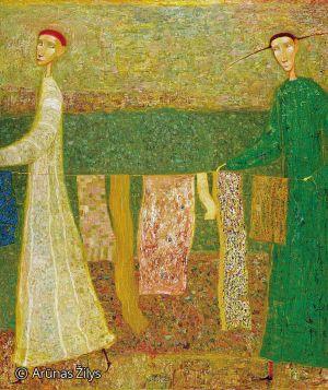 "Arūnas Žilys ""Skalbėjos"", 130 X 110 cm. 2000 m."