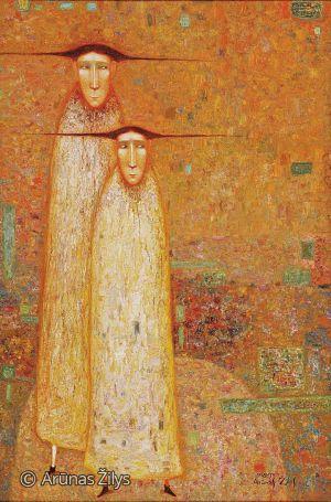 """Arūnas Žilys """"Drauge"""", 125 X 80 cm. 2003 m."""