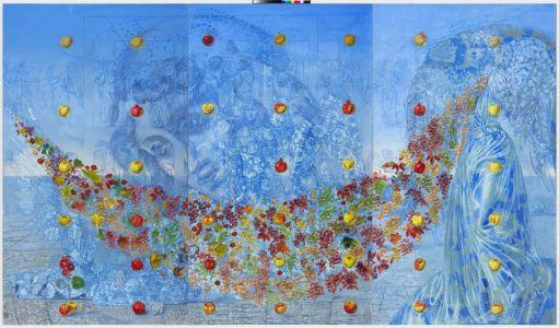 Arturas Aliukas Nebaigta kompozicija nr. 17; drobė, aliejus 240 X 405 cm., 2008-2010 m.