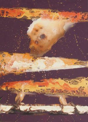 """Rita Rimšienė paveikslas iš ciklo """"Minčių skaitiniai I"""", drobė, akrilas, 110X150 cm."""