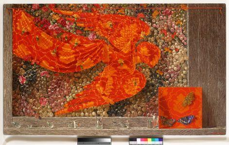 """Arturas Aliukas """"Natiurmortas su obelų žiedais"""" 2008, 144 x 129 cm."""