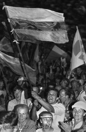Romualdas Požerskis. 1988-08-02.-Mitingas-Kaune