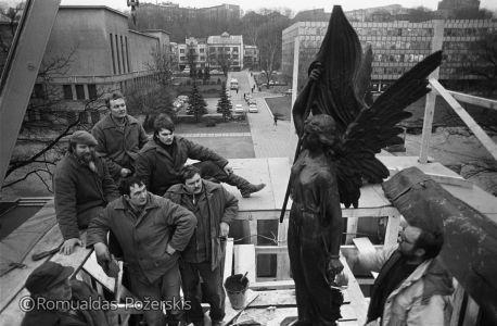Romualdas Požerskis. 1989-02-10.-Paminklo-atstatymas.-Kaunas