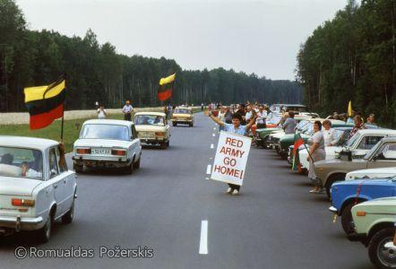 Romualdas Požerskis. 1989-08-23.-Baltijos-kelias