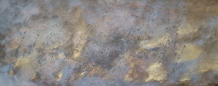 """Eglė Karlonaitė """"Paveikslas be pavadinimo"""" 100 X 40 cm."""