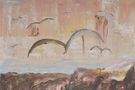 """Zita Virginija Tarasevičienė """"Atgimimas"""", paveikslo matmenys 120 X 80 cm. Paveikslo kaina 400 Eur"""