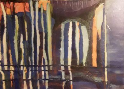 """Daiva Kupstienė paveikslas """"Antiqua"""", 50  X  70 cm., drobė, aliejus,  kaina 800 Eur. 2017 m."""