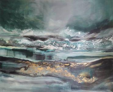 """Eglė Karlonaitė """"Lakes"""" 120 X 100 cm."""