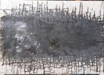 """Jolita Lubienė paveikslas """"Riba"""" paveikslo matmen0 cm. atlikimo ys 70X9technika akrilas, drobė, sukūrimo metai 2017 m."""