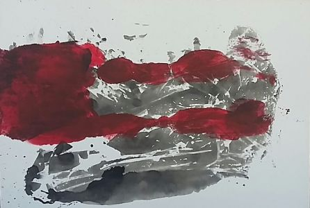 """Jolita Lubienė paveikslas """"Riba I"""" paveikslo matmenys š0Xū0 cm. atlikimo technika akrilas, drobė, sukūrimo metai 2016 m."""