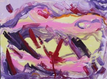 """Jolita Lubienė paveikslas """"Karštis""""paveikslo matmenys 70X90 cm. atlikimo technika akrilas, drobė. Sukūrimo metai 2019 m."""