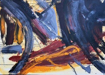"""Jolita Lubienė paveikslas """"Giesmė"""" paveikslo matmenys 70X90 cm. atlikimo technika akrilas, drobė, sukūrimo metai 2019 m. Paveikslo kaina 500 Eur."""
