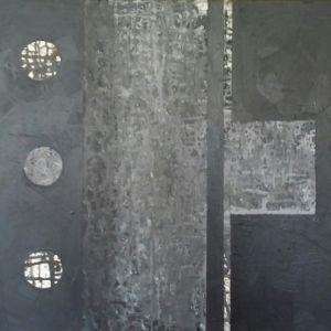 """Jolita Lubienė paveikslas """"Tyloje"""" paveikslo matmenys 65X70 cm. atlikimo technika akrilas, drobė, sukūrimo metai 2016 m."""