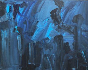 """Jolita Lubienė paveikslas """"Virtuali naktis"""" paveikslo matmenys 80X100 cm. atlikimo technika akrilas, drobė, sukūrimo metai 2019 m."""