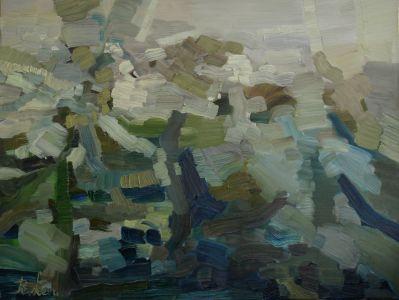Rūta Levulienė. Pabudimas-50-x-65-aliejus-drobė-2017