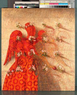 """Arturas Aliukas """"Angelas aitvaras""""  2008, 90 x 145 cm."""