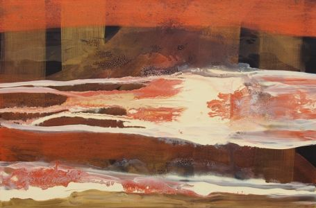 """Rita Rimšienė paveikslas iš ciklo """"Minčių skaitiniai VIII"""", drobė, akrilas, 80X120 cm. 2017 m."""