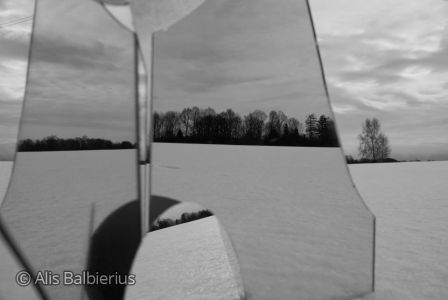 """Photography from the serie """"snow and mirror"""" 2009"""