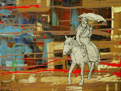 """Deivis Slavinskas """"Soutvorko ragana"""", 2011 m. 61 X 46 cm. Akrilas ant drobės."""