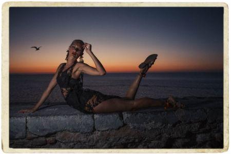 """Eglė Ščerbinskaitė fotografija iš ciklo """"Jie vadino ją Malena""""."""