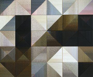 Danguolė Brogienė. Ankstyvas pavasaris. 2012 m., aut. techn., šilkas, liureksas, vilna. 100 x 100 cm.