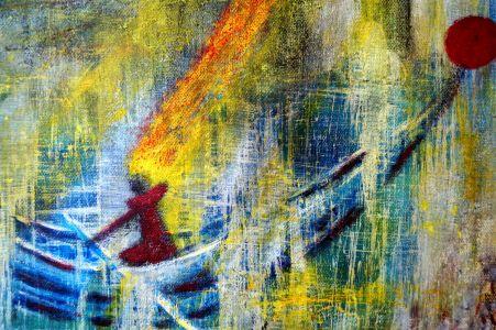 """Asta Kuzmickienė paveikslas """"Laimės švyturys"""""""