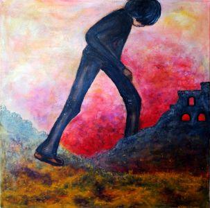 """Asta Kuzmickienė paveikslas """"Peržengti ir nugalėti"""""""
