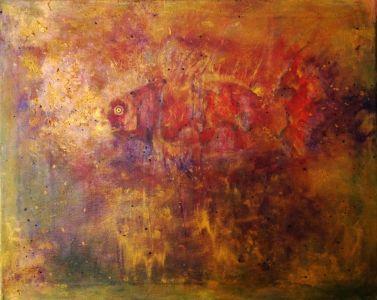 """Asta Kuzmickienė paveikslas """"Auksinė žuvelė"""""""