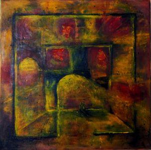 """Asta Kuzmickienė paveikslas """"Prisiminimų labirintas"""""""