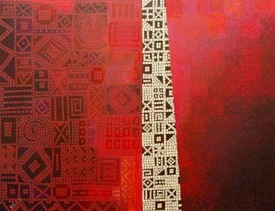 """Dalia Kirkutienė """"Durys"""". Drobė, akrilas, 116 X 89 cm. Kaina 750 Eur"""