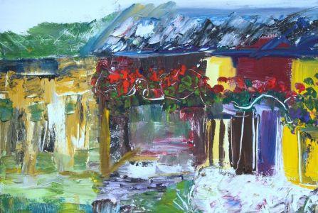 "Kristina Čivilytė. ""The house in white"". Painting."