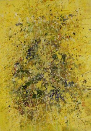 "Kristina Čivilytė. ""Yellow 2"" (70x50, mixed media, canvas, 2016). Price 450 Eur."