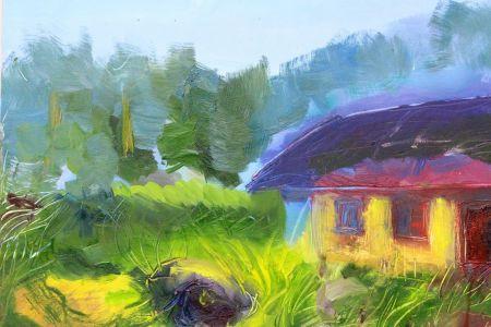 "Kristina Čivilytė. ""The house by the forest"" (oil, canvas, 50x70, 2016). Price 400 Eur."