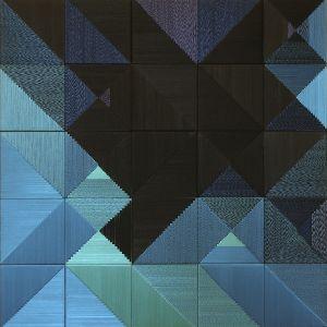 Danguolė Brogienė. Ežeras naktyje. 2010 m., aut. techn., šilkas, liureksas, vilna. 100 x 100 cm.