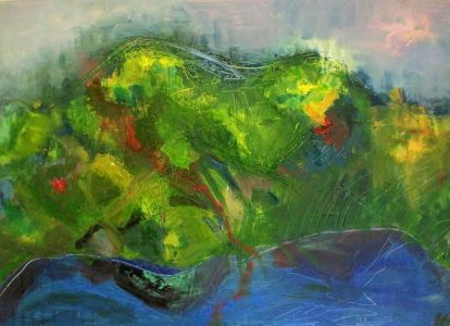 "Kristina Čivilytė. ""Reflections"" (80X 100, oil, canvas, 2016). Price 500 Eur."