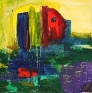 "Kristina Čivilytė. ""Figures""(40x40, acrylic, canvas, 2017). Price 350 Eur."