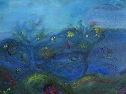 "Kristina Čivilytė.  ""Under water plants"" (60x80, oil, canvas, 2016). Price 400 Eur."