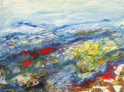 "Kristina Čivilytė.  ""Under water"" (60x80, oil, canvas, 2016). Price 400 Eur."