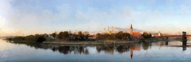 """Gintauto Skuodo fotografija """"Kauno panorama"""" 51 X 30, iš serijos """"Tapybinė vizija"""""""