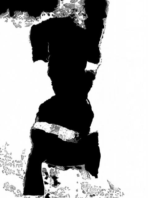 """  Fotomenininko Rimgaudo Malecko darbas iš serijos """"Fotografikos abstrakcijos""""."""