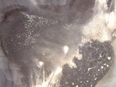 """Egidija Brinkytė iš ciklo """"Ugnies liekanos"""" MDP, aliejiniai emaliniai dažai, 70 X 70 cm. 2014 m. 300 €."""
