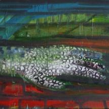 Jovita Glemžaitė-Matuzienė. ''On the road II''. Canvas, acrylic. Size 50 X 50. Price 1000 Eur.
