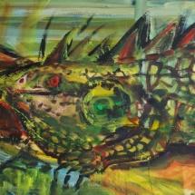 Jovita Glemžaitė-Matuzienė. ''Archeology of the mind''. 2014. Canvas, oil, acrylic. Size 120 X 100. Price 1000 Eur.