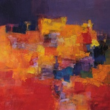 Hiroshi Matsumotto. Painting. ''November''. 2012-2. Size 45,5 X 45,5 cm. 2012. Japan.