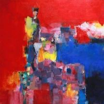 Hiroshi Matsumotto. Painting. ''July''. 2011-1. Size 72,7 X 72,7 cm. 2011. Japan.