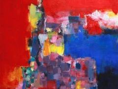 """Hiroshi Matsumoto paveikslas liepa 2011 - 1"""", paveikslo formatas 72,7 X 72, 7 cm. 2011 m. Japonija."""